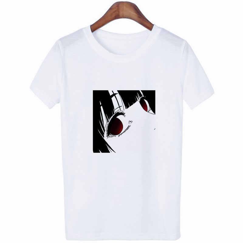 Новое поступление, летние уличные женские футболки Harajuku в японском стиле с принтом аниме для девочек, белые футболки Kpop Kawaii, одежда, футболки, топы