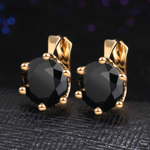 Fashion Statement bijoux 7 Color Vintage Punk Silver Color Crystal Flower Stud Earrings for Women Wedding Love Earring