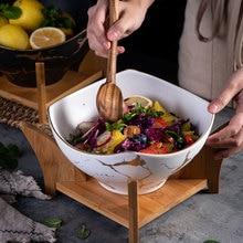 1pcs Nordic creative fruit salad bowl marble household ceramic tableware soup bowl large bowls mixing bowl