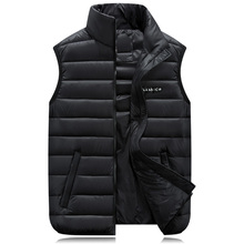 Zozowang plus size 6XL winter vest men new Men women cotton autumn and mens loose stand collar lovers