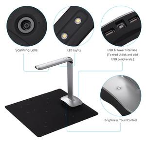 Image 3 - Aibecy F50 Foldable HD USB Book Document Camera Scanner Foot Pedal LED Light AI Technology 15 Mega Pixels A3 &A4  Scanner