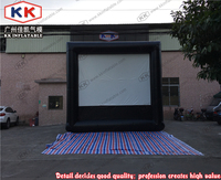 Customized Inflatable Projector Screens 3D Projector Screen Outdoor Inflatable Screen