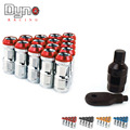 NEW  20pcs lock racing lug nuts + 1 security key per set (Red Blue Black Golden) P1.25/P1.5