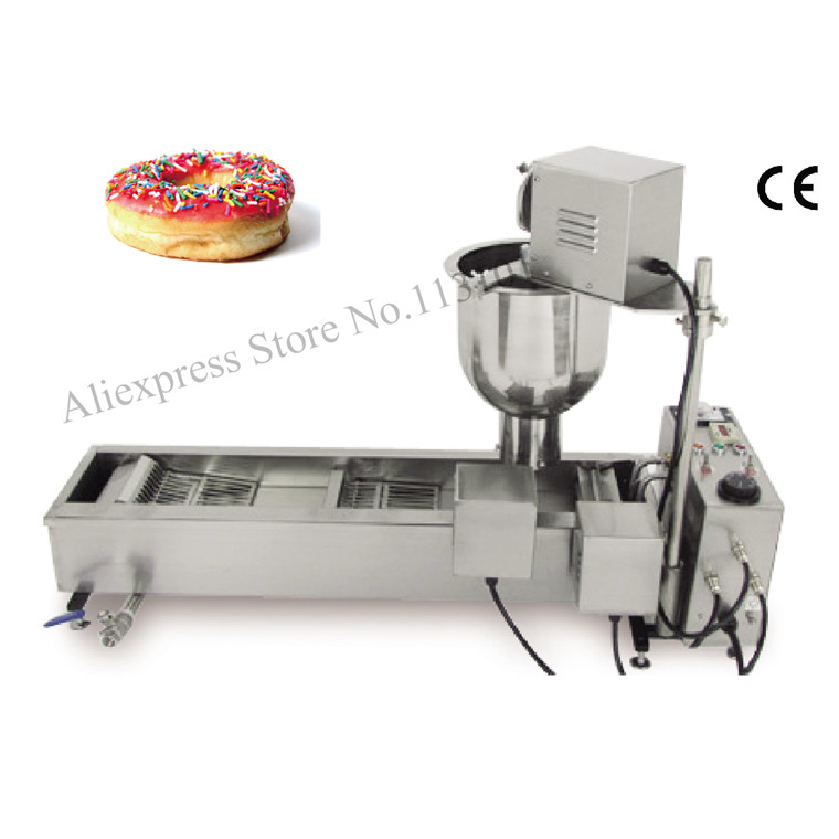Donut Fryer Machine 110V 220V Automatic Donut Machinery Electric Cake Commercial Donut Maker automatic commercial plum donut baking machine cake sweet donuts maker