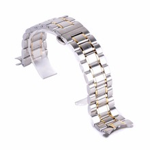 Original Luxury Watch Band 20mm,22mm Stainless Steel Folding Clasp strap & Link Bracelet Adjustable Steel Buckle Wrist WatchBand