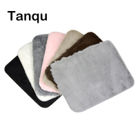 TANQU PU Leather Flap With Fur Plush For O Pocket O Bag Cover Clamshell With Magnetic