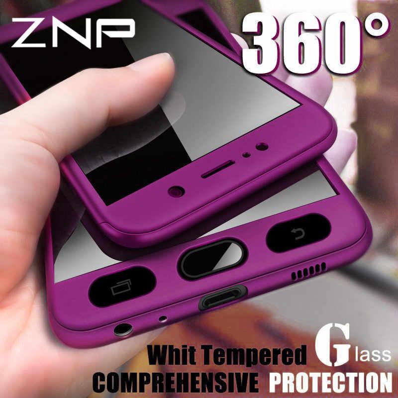 ZNP cobertura completa 360 teléfono funda para Samsung Galaxy S7 A3 A5 A7 J7 J5 2016 funda para Samsung A5 A7 2017 Carcasa protectora
