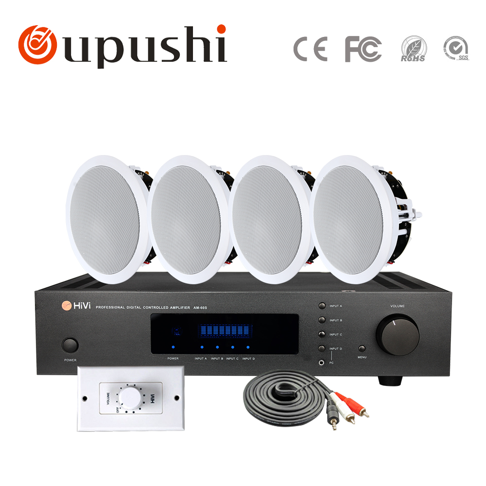 HIFI 120W 2 channel Fixed resistance amplifier, high quality power amplifier, high quality background music, home theater system 2017 new music hall integrated hifi high power digital amplifier u disk sd card pc usb bluetooth 4 0 free shipping