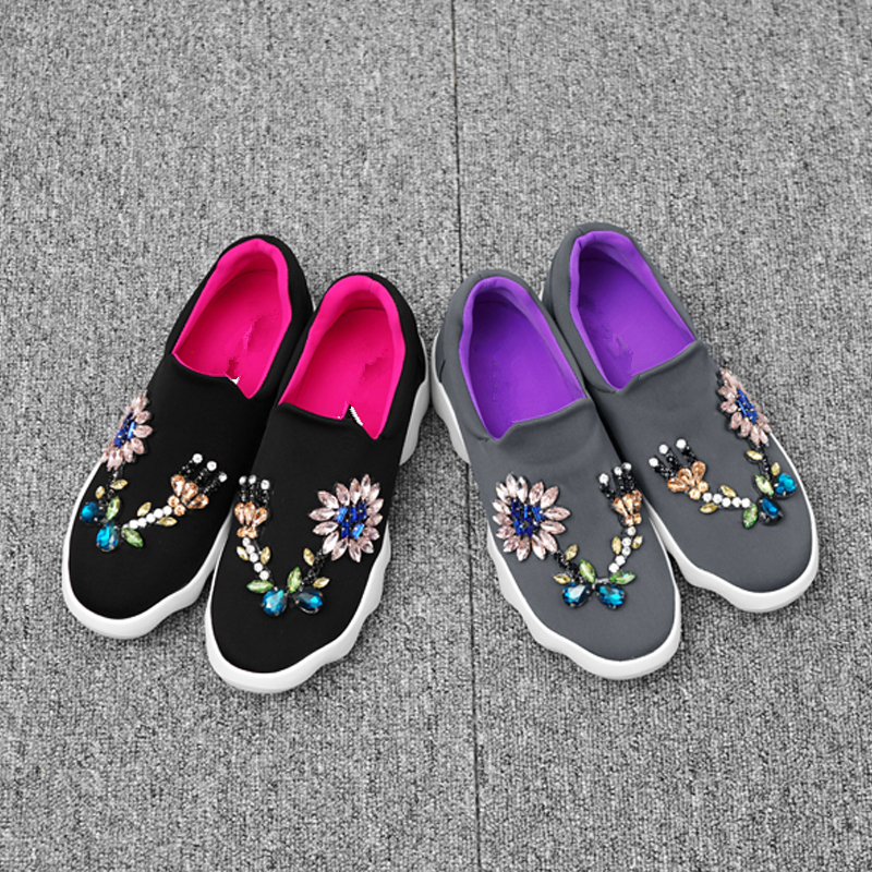 Confortables Bling De Mujer Show Mixte Appartements Casual Cristal Sapato Chaussures Zapatos Femmes Feminino as Chaude Coloré Couleur Plate Show As Sneakers forme TFPq0Aqw