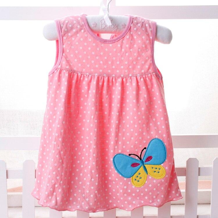 Flower Printed Toddlers Girls Princess Dresses Baby Girls A-Line Lovely Sleeveless Summer Dress Kids Girls Soft Cotton Clothes
