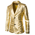 Мужская Мода Blazer 2016 Новые Поступления Однобортный Пиджак Производительность Партия Homme Casaco Одежда Бесплатная Доставка ZX60