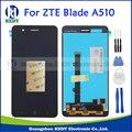 Preto para zte blade a510 ba510 ba510c display lcd original e touch screen digitador assembléia substituição + ferramentas
