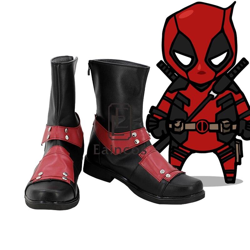 Movie X men Superhero Deadpool Cosplay Halloween Party Custom Made Shoes