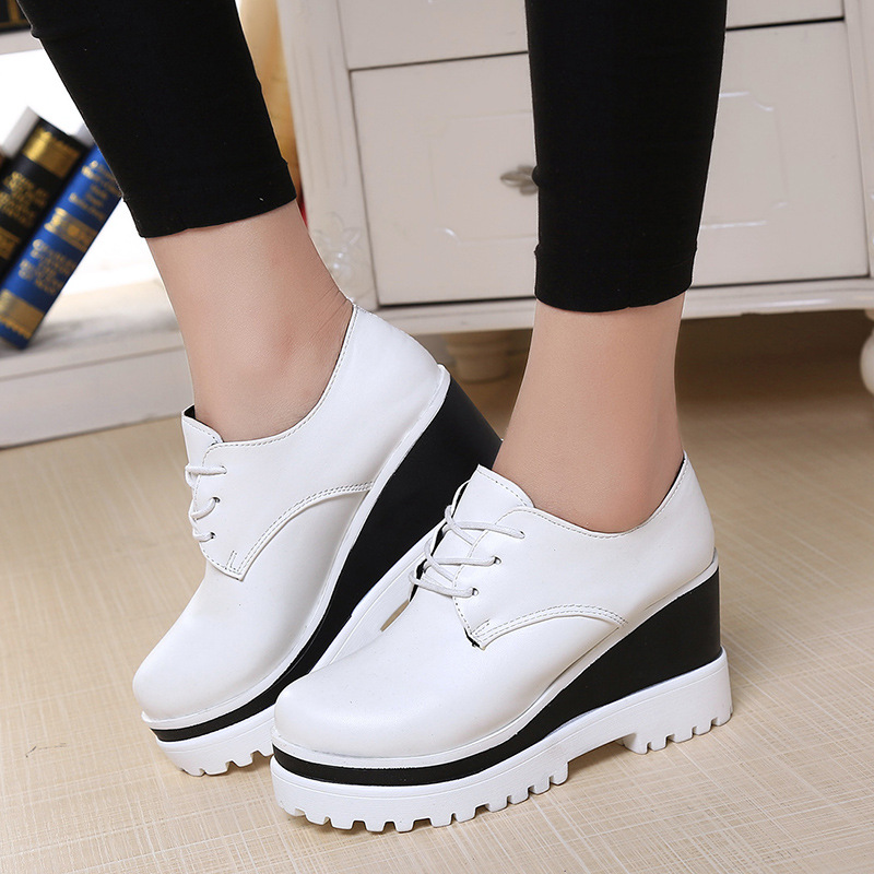 GOXPACER Spring And Autumn New Arrival Women Shoes Fashion Women Wedge Shoes Casual Shoes Women Height Increase Thick Heel