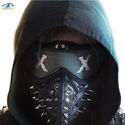 Hfбезопасности ПВХ защитная маска Хэллоуин косплей Вечерние Маски для макияжа