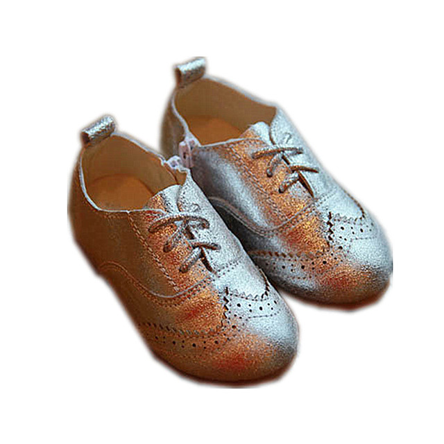 WENDYWU 2017 spring boys PU leather shoes girls dance shoes for baby flats girls princess shoes for kids fashion shoes