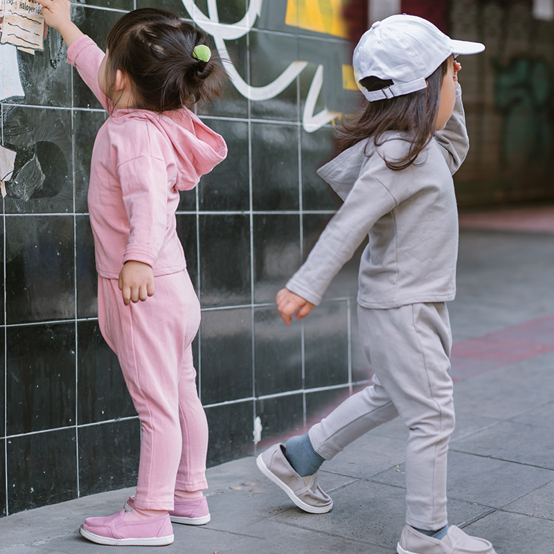 Girls Hooded Casual Sets Spring Children Vestidos Kids Cotton Suit Korean Style Toddler Girls Sports Sets Boys Hooded Coat+Pants 2015 new autumn winter warm boys girls suit children s sets baby boys hooded clothing set girl kids sets sweatshirts and pant