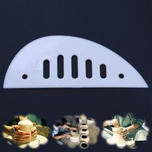 1pc Plastic Scraper Slices Scraping DIY Engraved Clay Sculpture Accessories Pottery Ceramic Tools