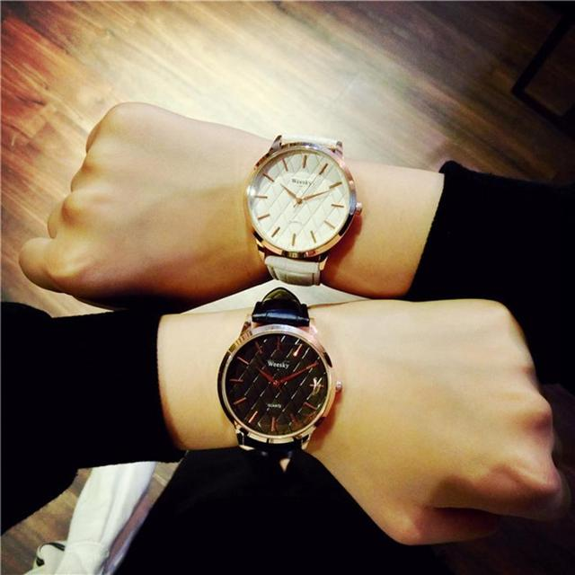 2017 NEW Simple Casual Fashion Decoration For Men And Women Couple Watch Trend W