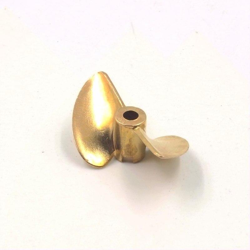 Bateau RC FT012 métal bronze 2 hélice quadripale positif 3.18mm 4mm 4.76mm diamètre pas 1.4 cuivre prop