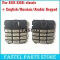 Для Nokia 6303c 6303 classic 6303ci 6303i классический клавиатура новый Оригинальный Английский/Русский/Арабский/Китайский Клавиатуры