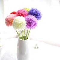 10Pcs Set Ball Onion Silk Artificial Hydrangea Foam Flower Bouquet Pom Poms For Home Wedding Decoration