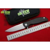 GREEN THORN HATI F95 Custom M390 blade CF + Titanium Handle Flipper folding knife Outdoor Camping EDC tools Hunting pocket knive