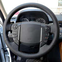 High Quality Cowhide Top Layer Leather handmade Sewing Steering wheel covers For Land Rover Range Rover Sport Discovery 4
