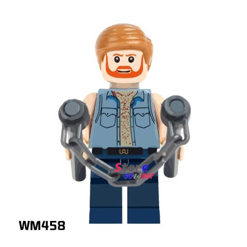 1PCS Building Blocks ตัวเลข Action StarWars ฮีโร่ Chuck Norris HOBBY การเรียนรู้ตุ๊กตา DIY ของเล่นสำหรับของขวัญเด็ก