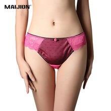 b3134d124 MAIJION L-2XL Dot Rose Sexy Women Lace G-String Thongs Panties