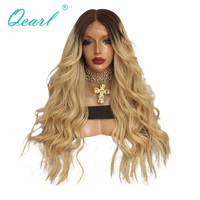 130% Two Tone Lace Front Wig Ombre Color Frontal Lace Wigs Malaysian Remy Hair wig For White Black women Qearl
