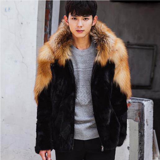 8efd427066eb0 Clobee Men Coats 2019 Winter Mens Luxury Mink Faux Fur Coat Plus Size  Thicken Warm Jackets Long Sleeve Parka Fox Fur Coats G468-in Faux Leather  Coats from ...
