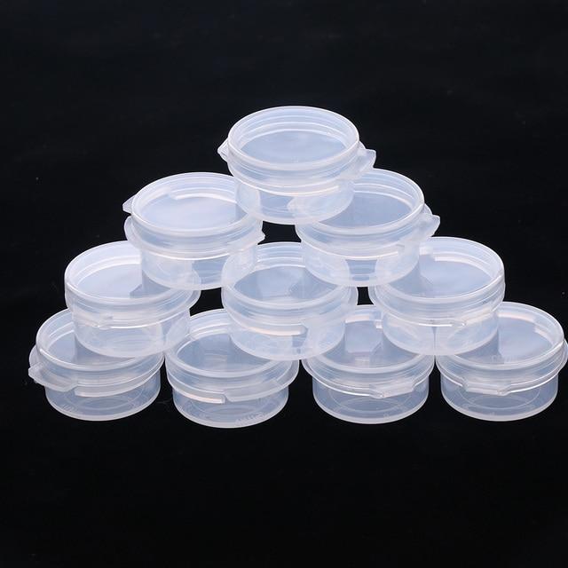 10 adet makyaj kavanoz Mini örnek şişe sızdırmazlık Pot yüz kremi kabı taşınabilir şişe plastik şeffaf kılıf makyaj aksesuarı