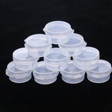 Frasco de maquillaje de 10 uds, Mini botella de muestra, contenedor de crema facial de sellado, botella portátil, caja transparente de plástico, accesorio para maquillaje