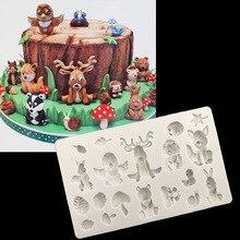 1 STÜCKE Viele Tiere Silikonform 3D Handwerk Hochzeit Fondant Kuchen Dekorieren Werkzeuge Zuckerpaste Süßigkeiten Schokolade Clay Formen D006