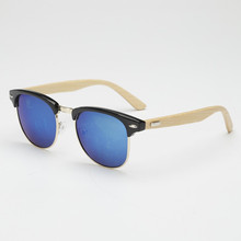New 5 Colors Men Retro Sunglasses Wooden Glasses Leg Spectacles Eyeglasses  Goggle LY6