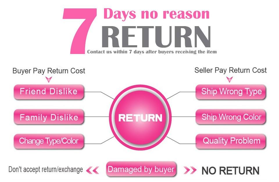 7 days no reason return