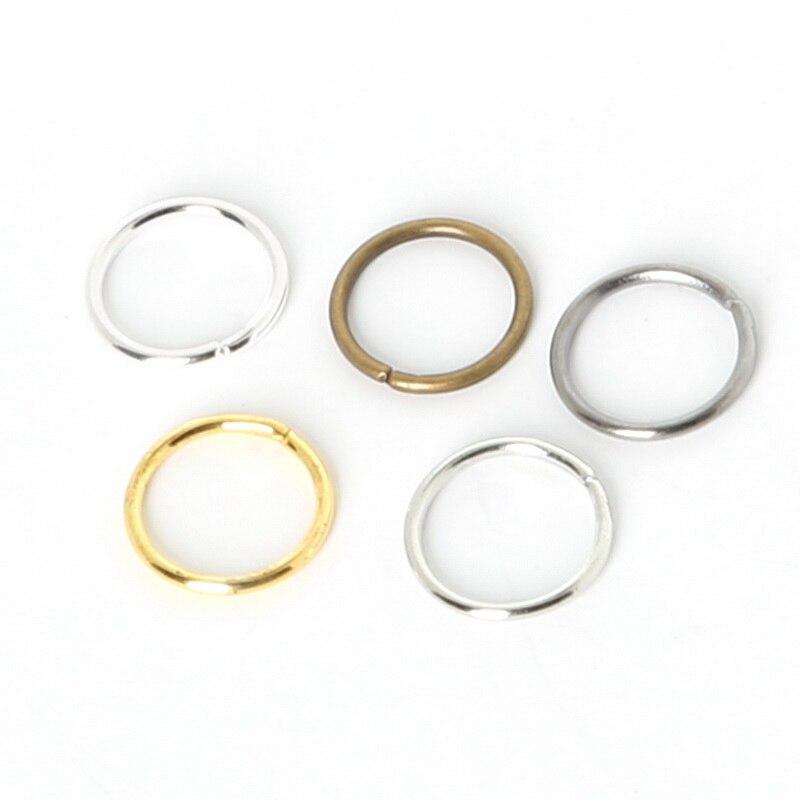 Beadia 600pcs 0.7*5mm/0.8*6mm/0.8*7MM link loop Silver Gold Rhodium Black Bronze Open Jump Ring for DIY Jewelry Findings beadia dy09 diy