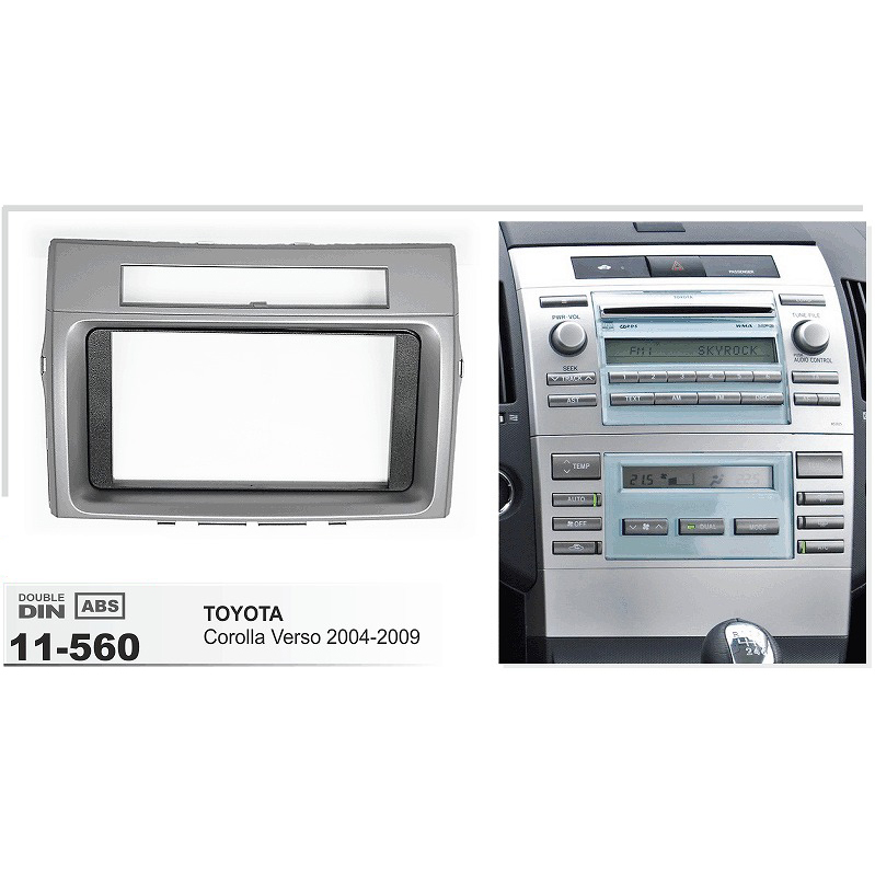 AF-11-560 Car DVD GPS Radio Fascia Panel for Toyota Corolla Verso 2004-2009 Stereo Dash Facia Trim Surround CD Installation Kit car radio dvd cd fascia panel for faw oley 2012 stereo dash facia trim surround cd installation kit