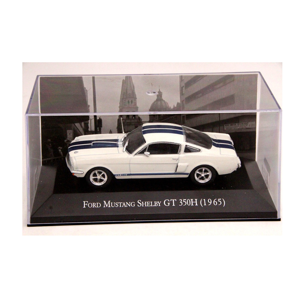 IXO Altaya 1:43 Scale Ford Mustang Shelby GT 350H 1965 Cars Diecast Toys Models Limited Edition Collection White