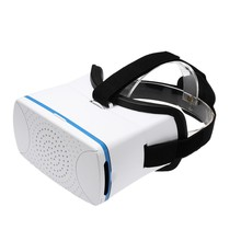 VR360 Head Mounted Google Cardboard 3D VR Glasses Virtual Reality Video Movies Games Headband White for Smart Phones
