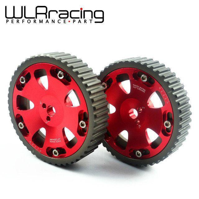 WLRING STORE- 2pcs Cam Gears Pulley For MITSUBISHI EVO 1 2 3 4 5 6 7 8 9 ECLIPSE DSM 4G6 ...
