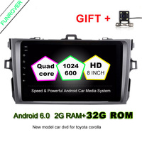 2 Din Android 6 0 Car Dvd Autoradio Gps Navigation 8inch Steering Wheel Controls For Toyota