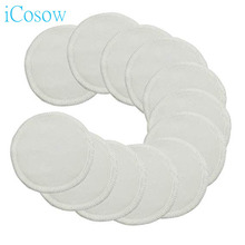 iCosow 1pcs Cotton Pad Reusable Breast Pads Nursing Waterproof Plain Washable Bamboo Accessory Makeup Remover Clean Tool