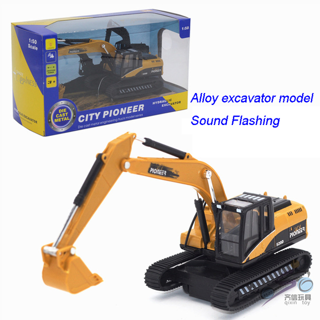 Boy toys 1:50 metal alloy model toy kids toy truck Inertia excavator shovel baby engineering vehicle toys gifts 91007s