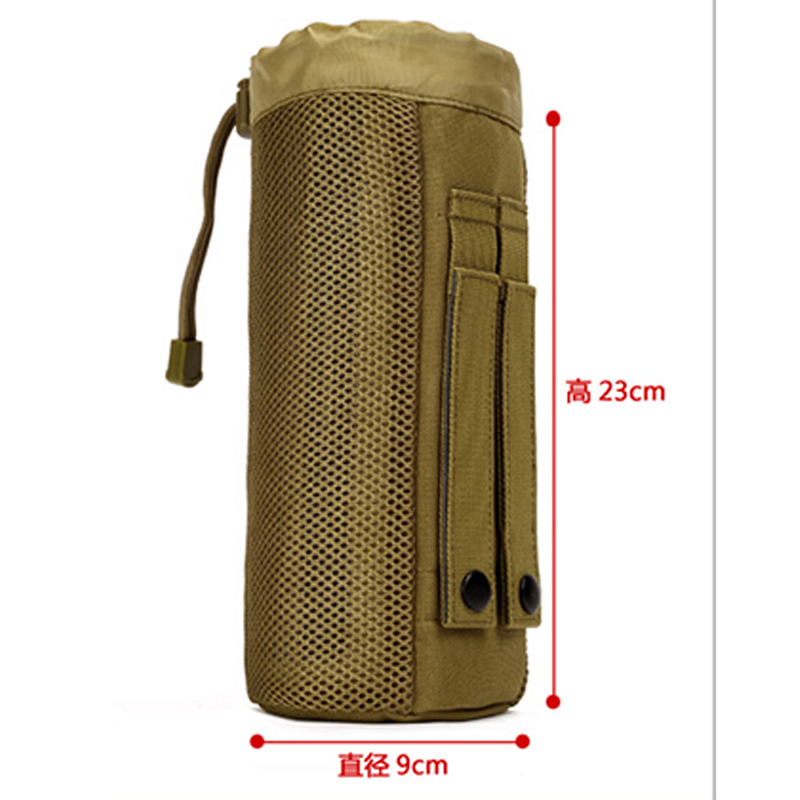 New Outdoor Tactical Water Bottle Pouch Military Molle Pack Camouflage Gear Waist Back Plus Pack for Sport Camping Hiking
