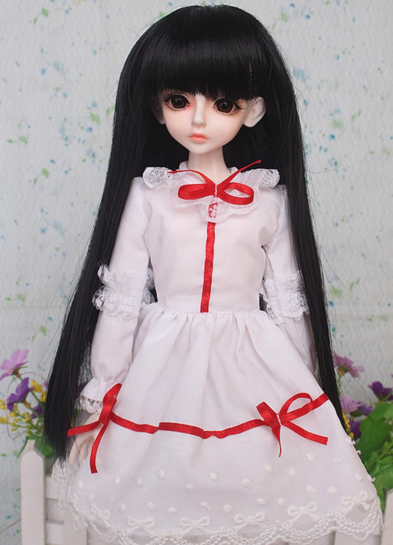 1/3 1/4 1/6 BJD Doll BJD/SD Fashion Clothes Red Lace Cute Dress Doll For Baby Girl Gift
