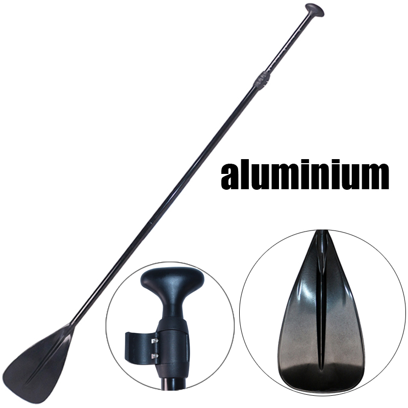 165 215cm SUP black extendable paddle oar SUP stand up paddle board for surfing board aluminium inflatable boat kayak paddle