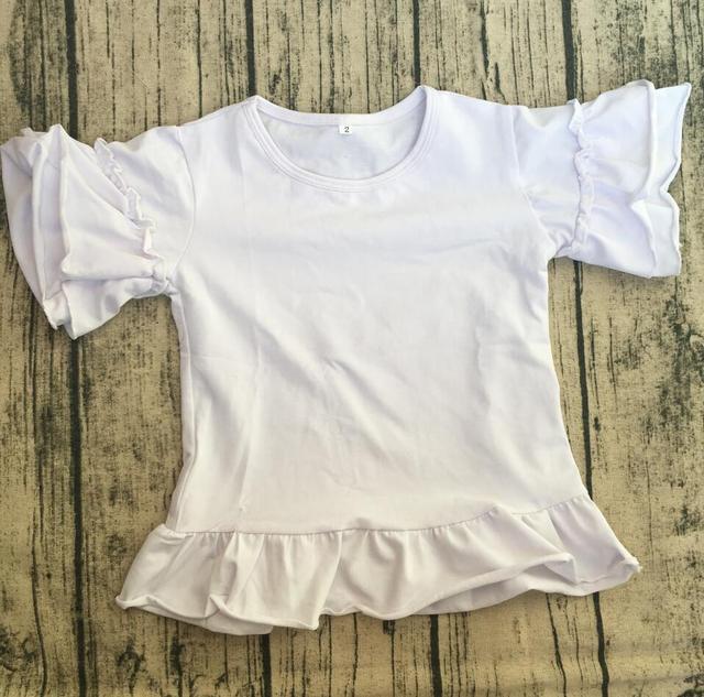 1e83162f Wholesale Girls Cute T Shirt Multiple Colors Monogram baby girls fancy t  shirt Children Custom ruffled