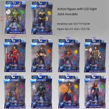 16 CM doprowadziły światła figurka Avengers ostateczna bitwa Heroes kapitan Marvel rysunek zabawki dla dzieci Hulk Thanos żelaza man Thor tanie tanio Modelu Unisex Film i telewizja Wyroby gotowe Zachodnia animiation Żołnierz gotowy produkt Żołnierz zestaw Żołnierz części i podzespoły elektroniczne